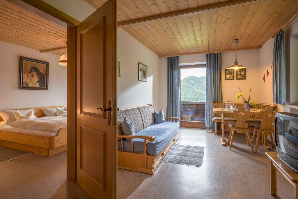 Ferienwohnung 4 - Wohn- und Schlafzimmer