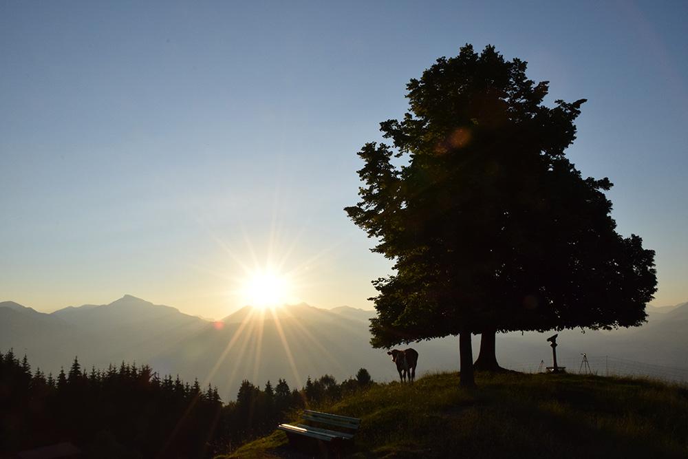Sonnenaufgang auf dem Gipfel