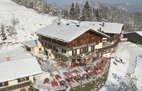 Berggasthof Hocheck im Winter